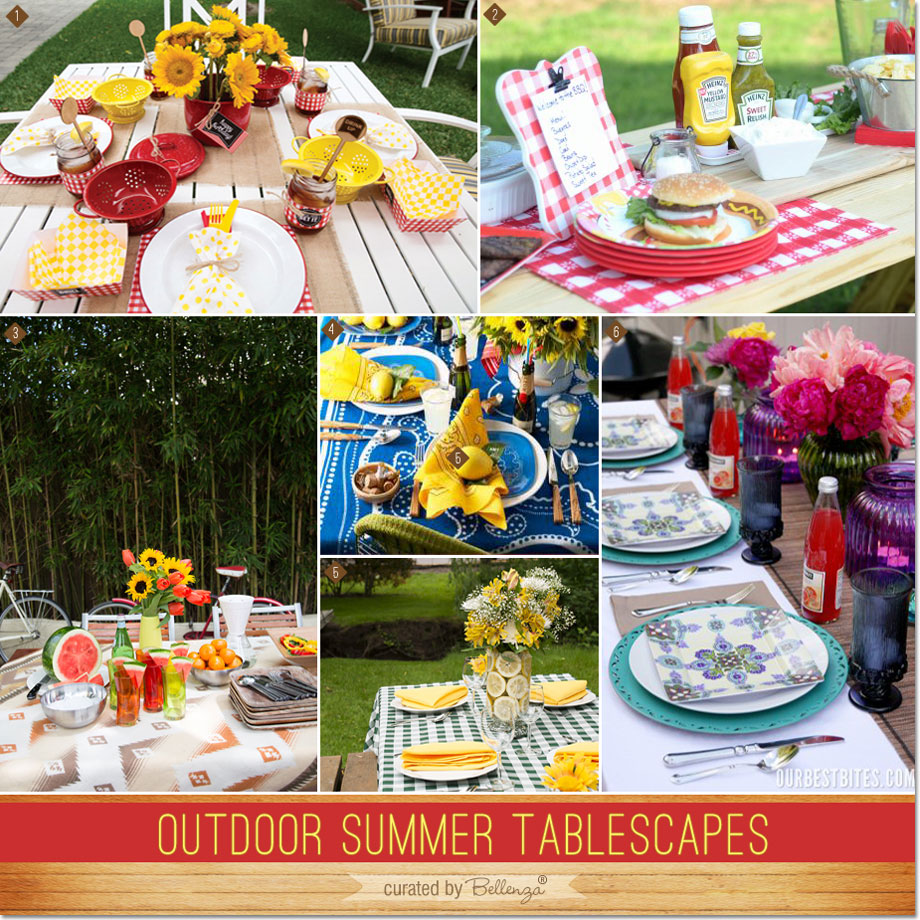 Tremendous Outdoor Summer Tablescapes For Backyard Bbqs And Picnics Home Interior And Landscaping Palasignezvosmurscom