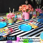 Art Supplies as Table Elements