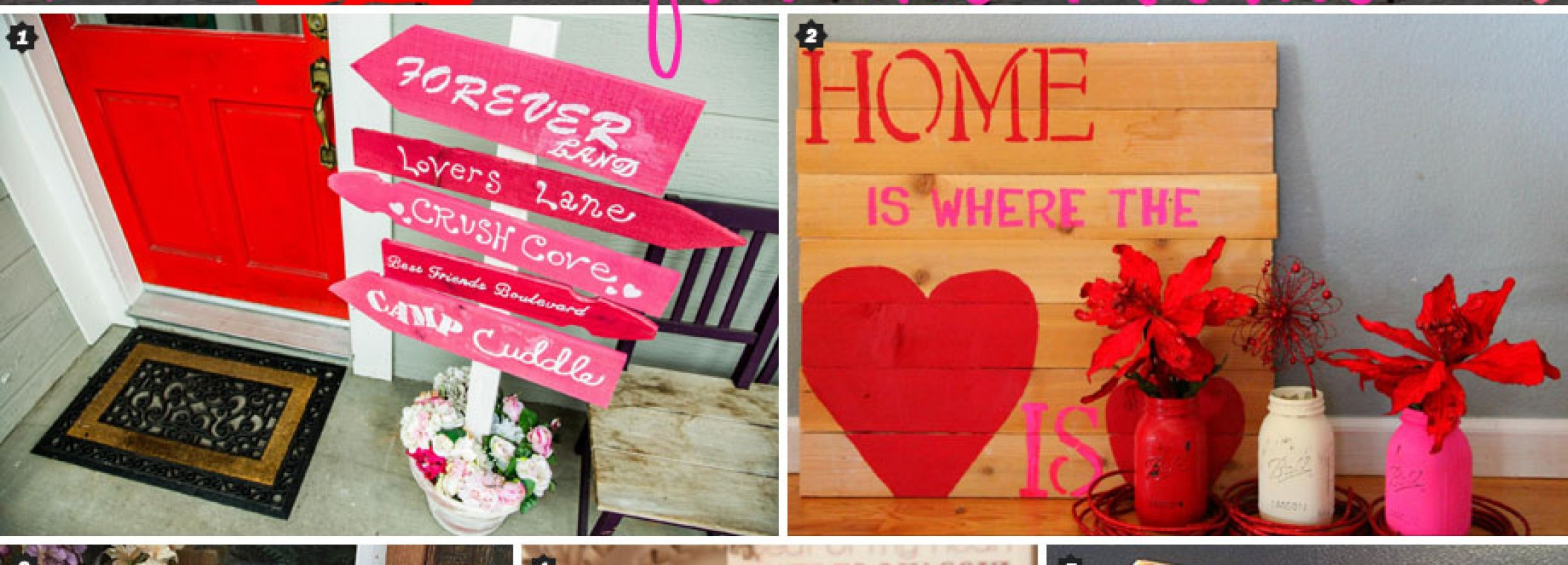 10 Valentine's Pallet Signs -- Ideas to DIY or Buy