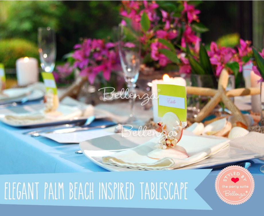 Palm beach tablescape