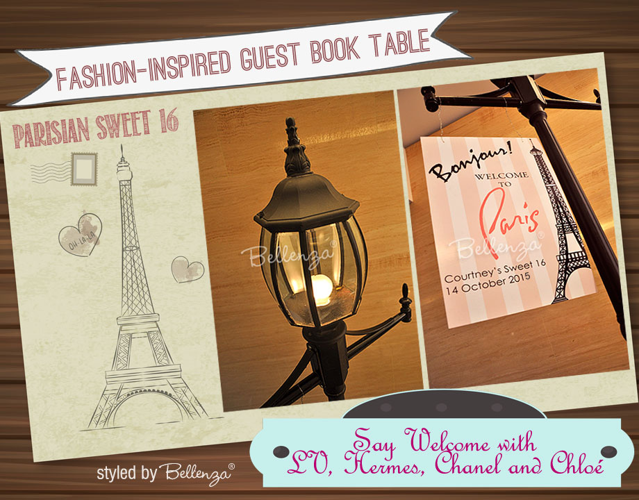 Sweet 16 Parisian Guestbook styled shoot by the Party Suite at Bellenza