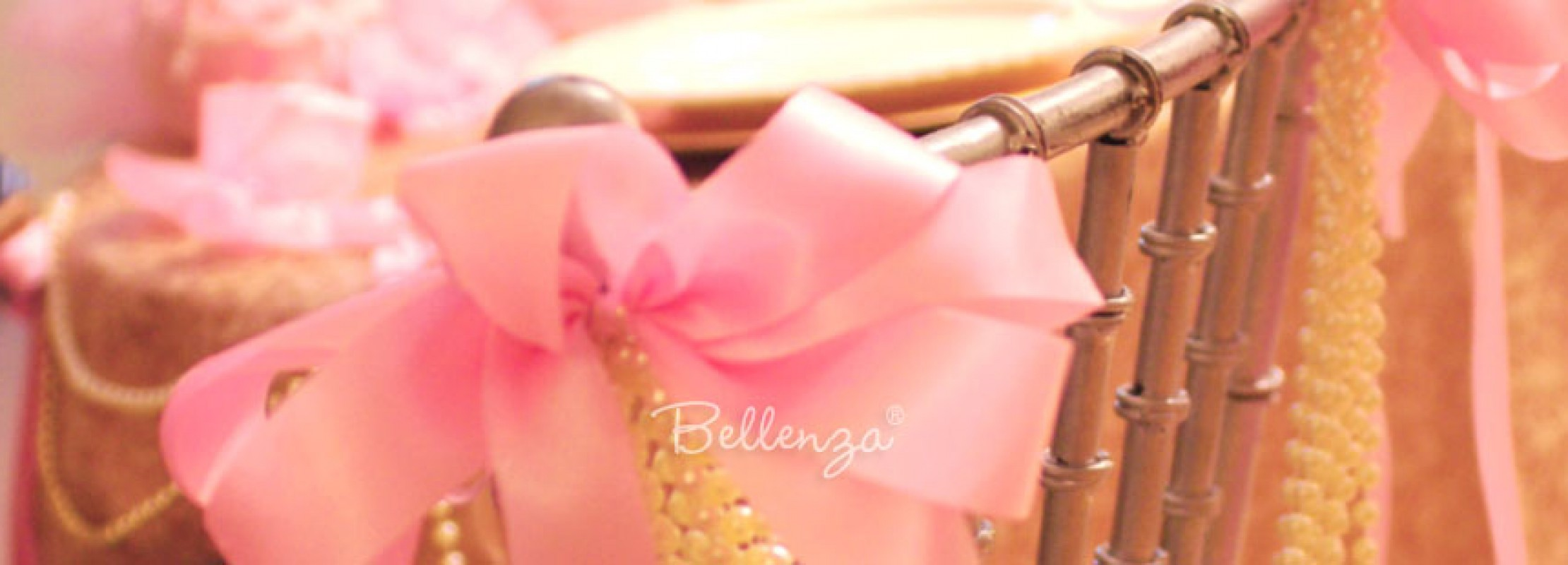 Pink rbbons and pearls. Photo by Bellenza.