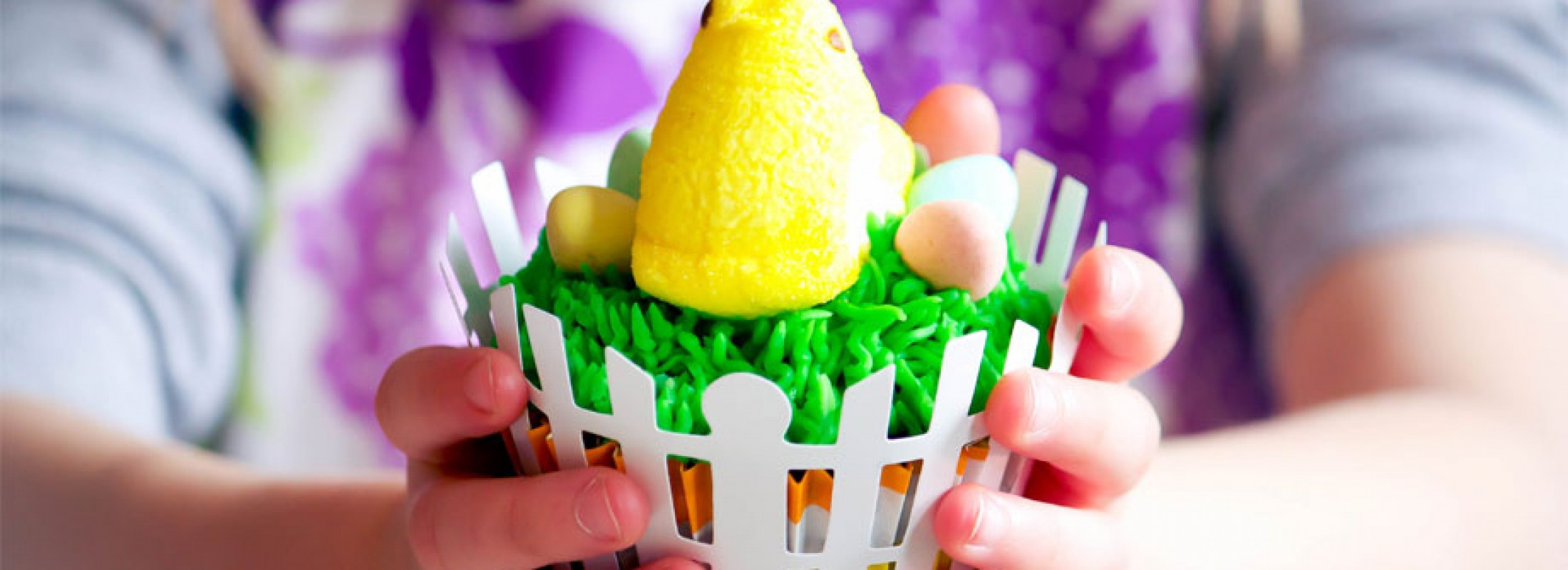 Peeps Cupcakes by Oven Adventures