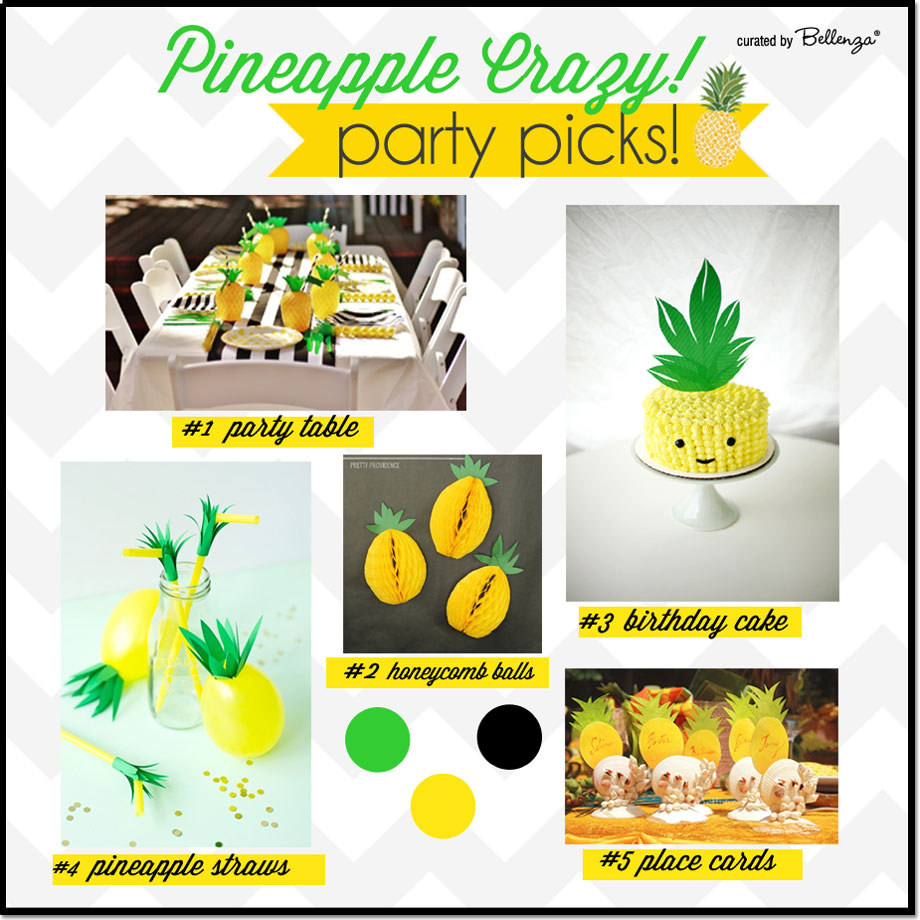 Let's go crazy with pineapples!  A pineapple themed party with ideas and tips! #pineappleparty