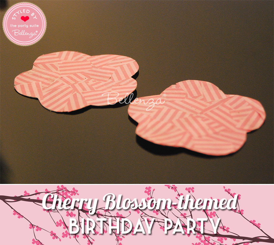 Pink sakura coasters for Cherry Blossom birthday