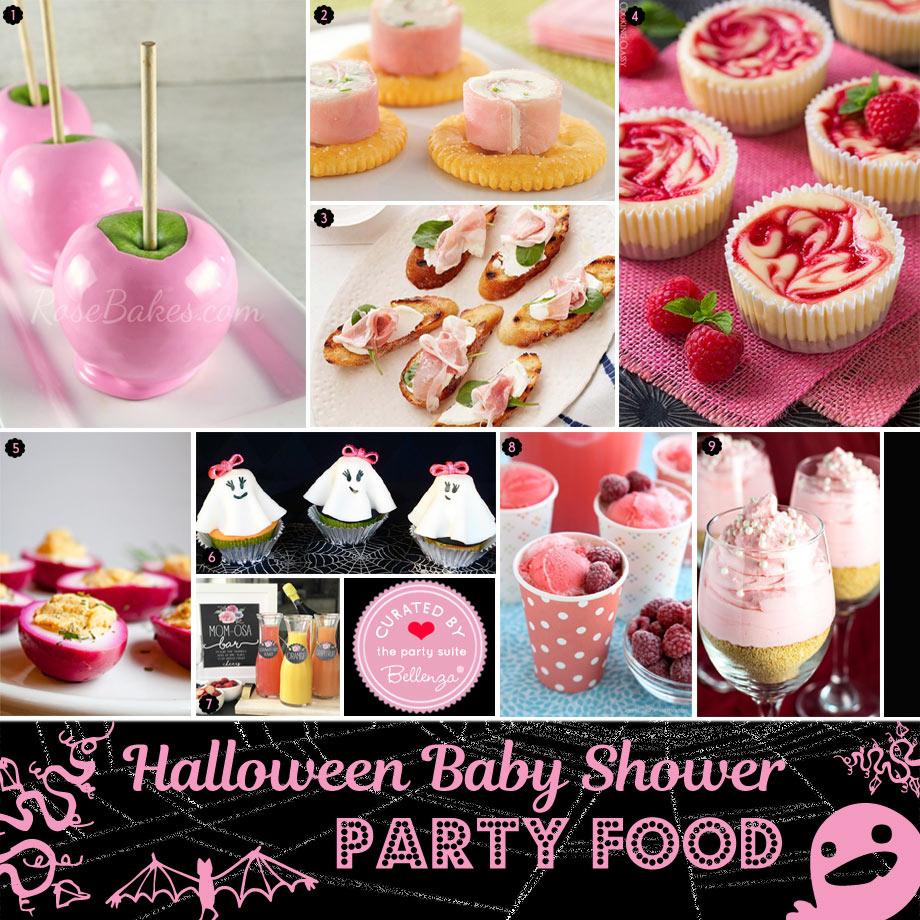 Pink Halloween Baby Shower Food - Pinkoween!