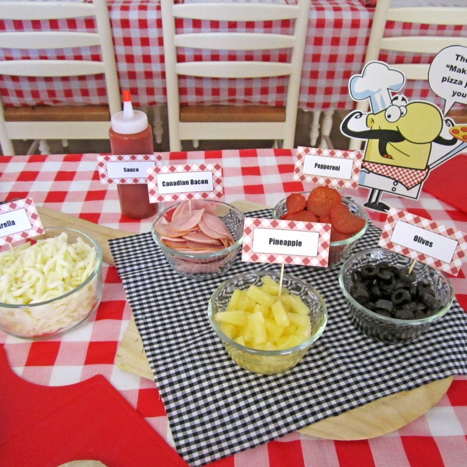 Pizza Food Ingredients for Party. Photo by Sweeten Your Day Events