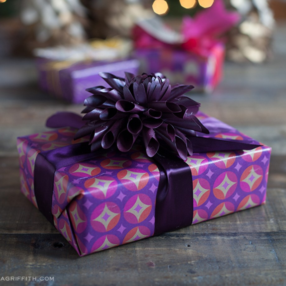 Gift wrapping by Lia Griffith