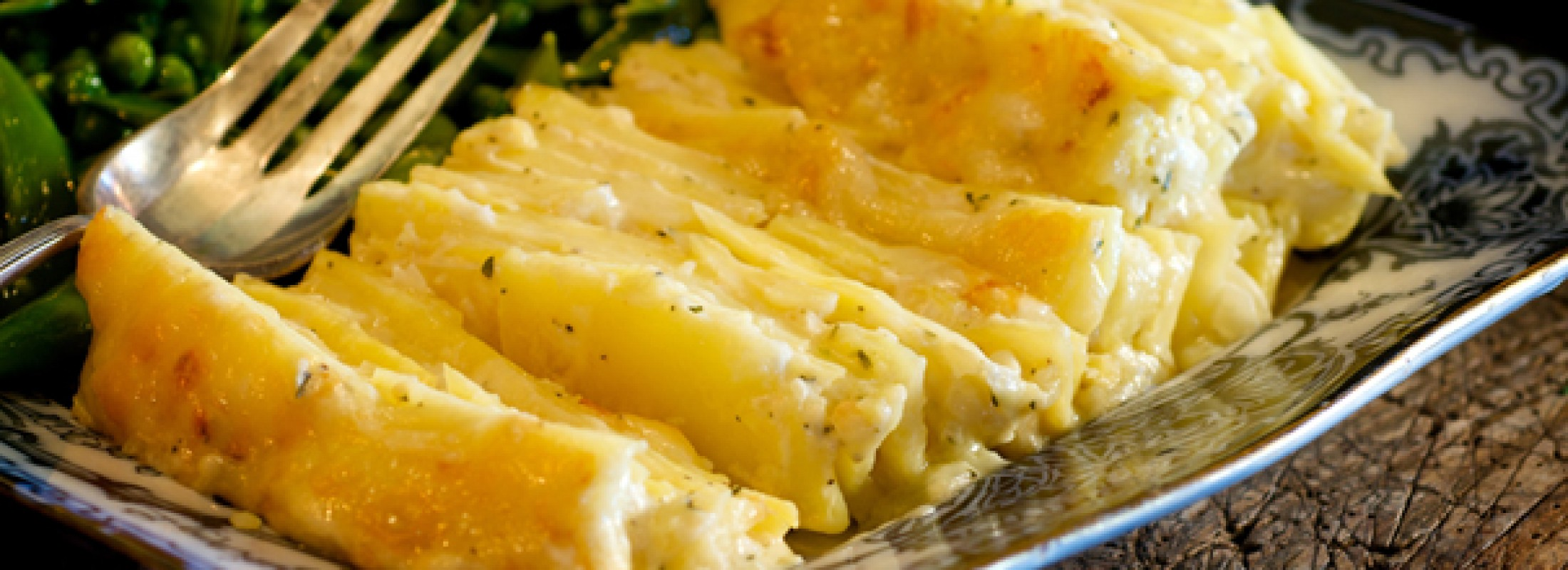 Scalloped potatoes. Photo credit: The Food Channel.