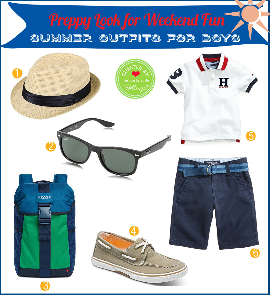 Preppy summer outfit for pre-teen boys