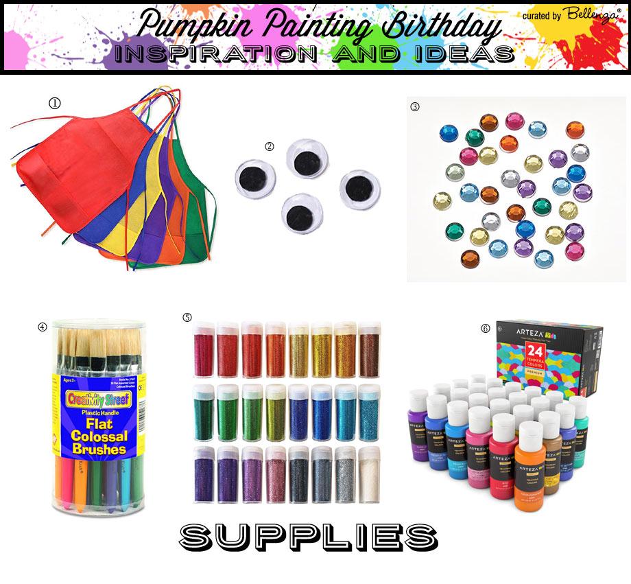 Fall pumpkin painting supplies for kids birthdays