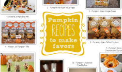 Pumpkin favors from rice krispies to muffins to push pops.