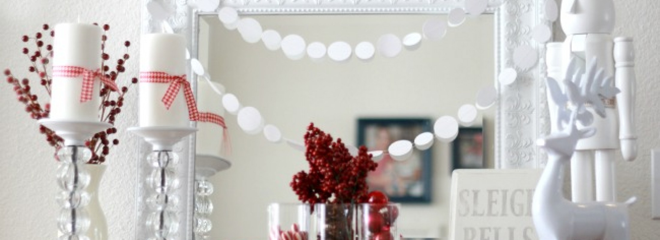 red and white christmas decorations photo credit making home base - Winter Wonderland Christmas Decorating Ideas