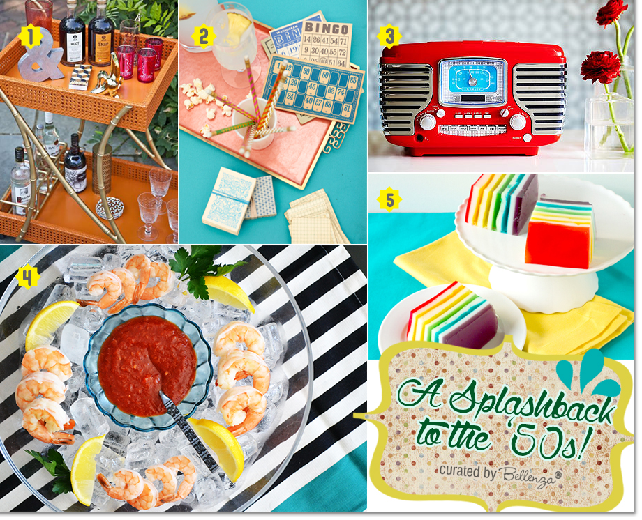 Food and entertaining ideas for a retro pool birthday!