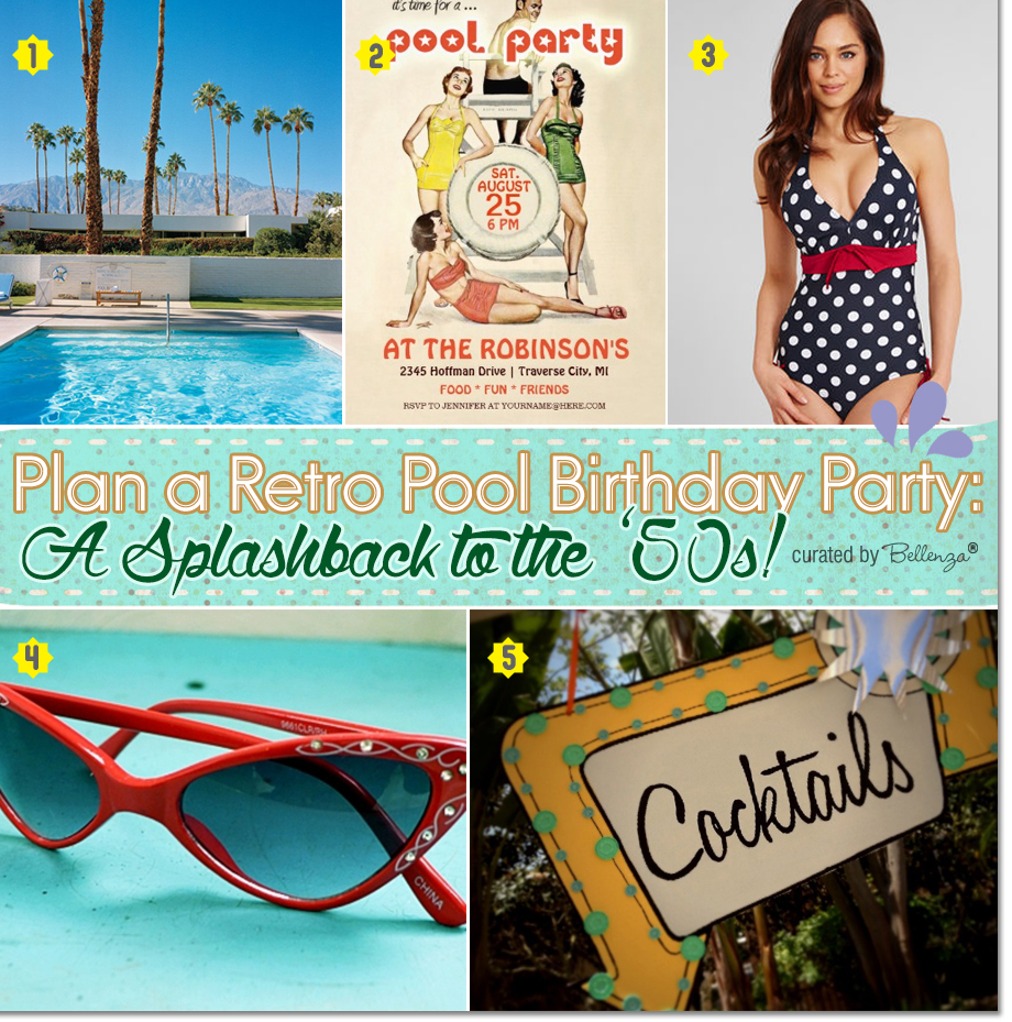 Retro pool birthday ideas! Bring back the 50s.