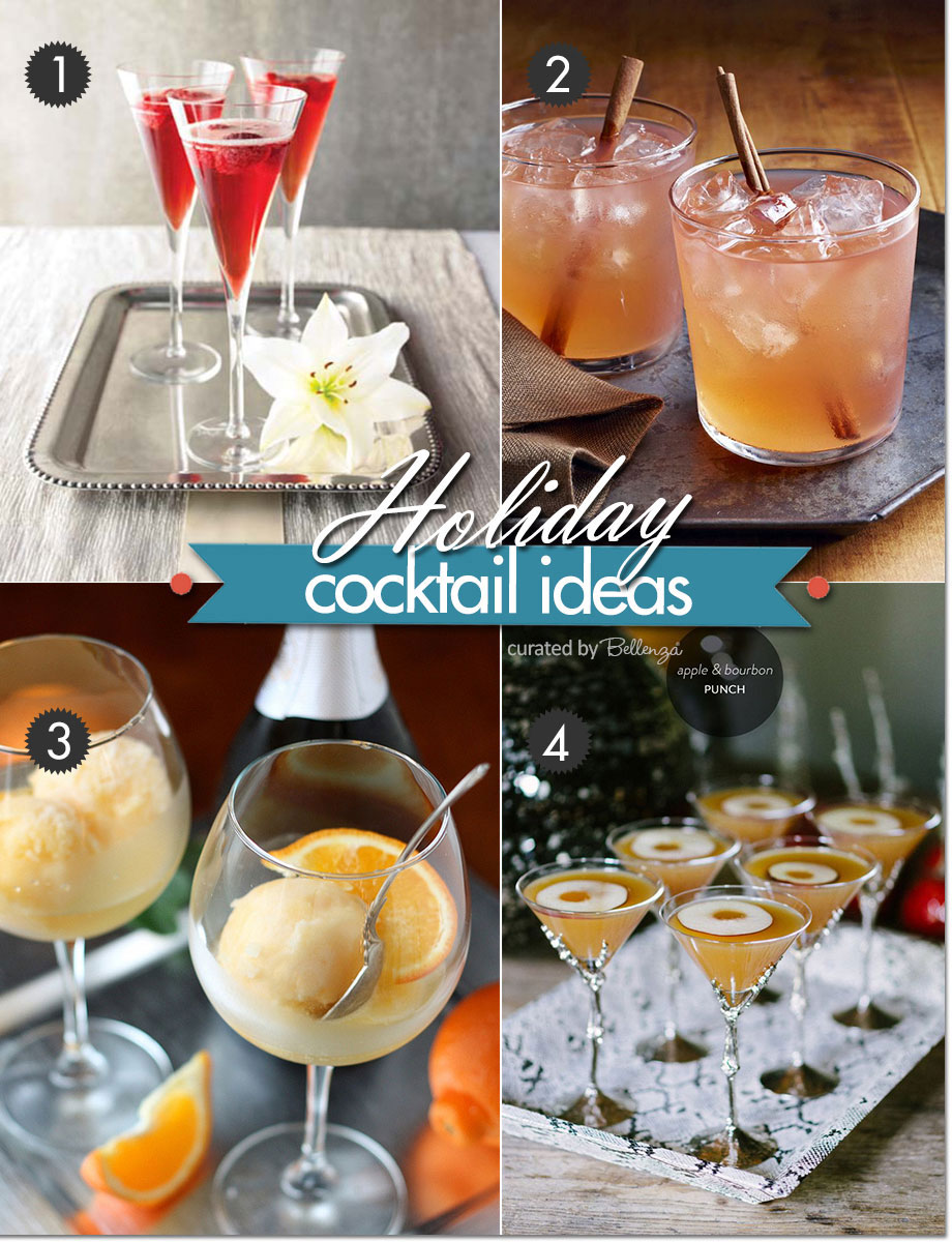 Modern holiday cocktails for Christmas party