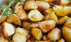 Rosemary lemon potatoes via La Dolce Pita