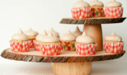 Rustic cake stands. Photo by Root and Blossom
