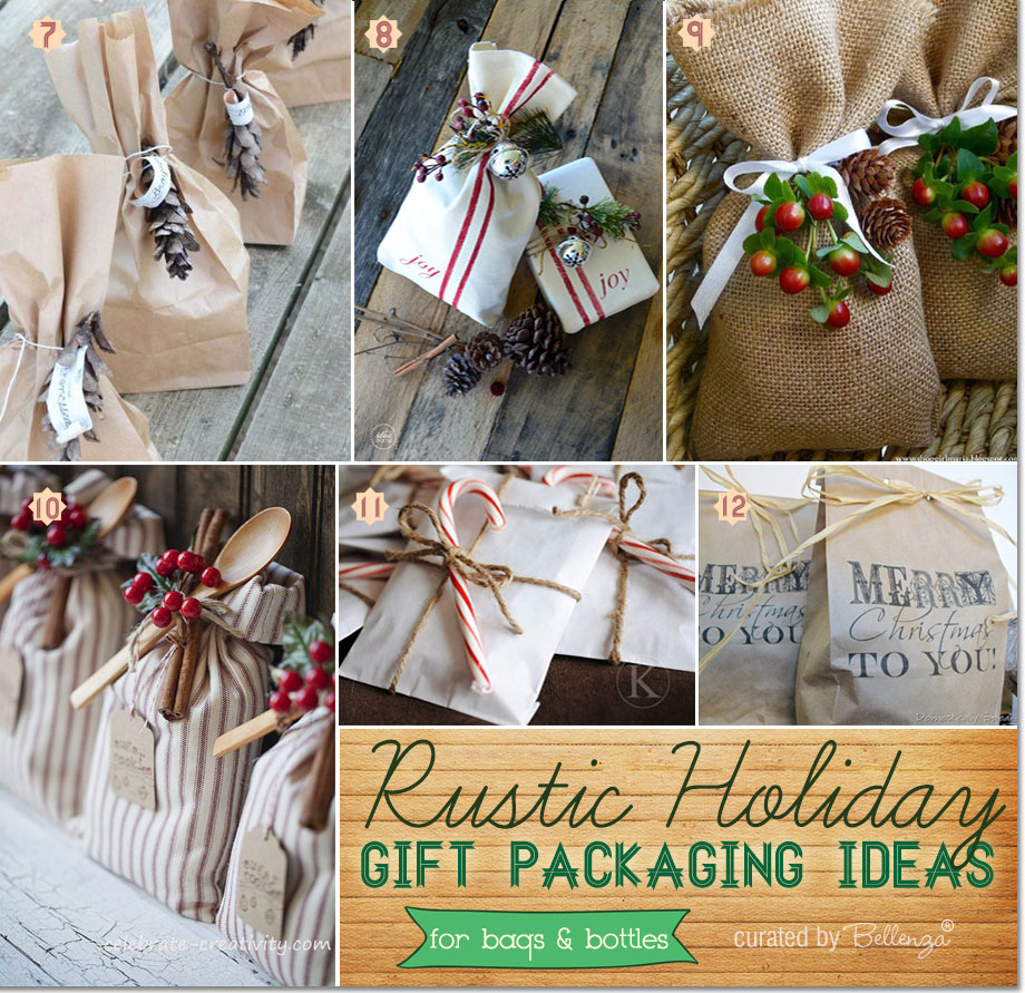 Gift bags from paper to burlap for presenting Christmas gifts and favors