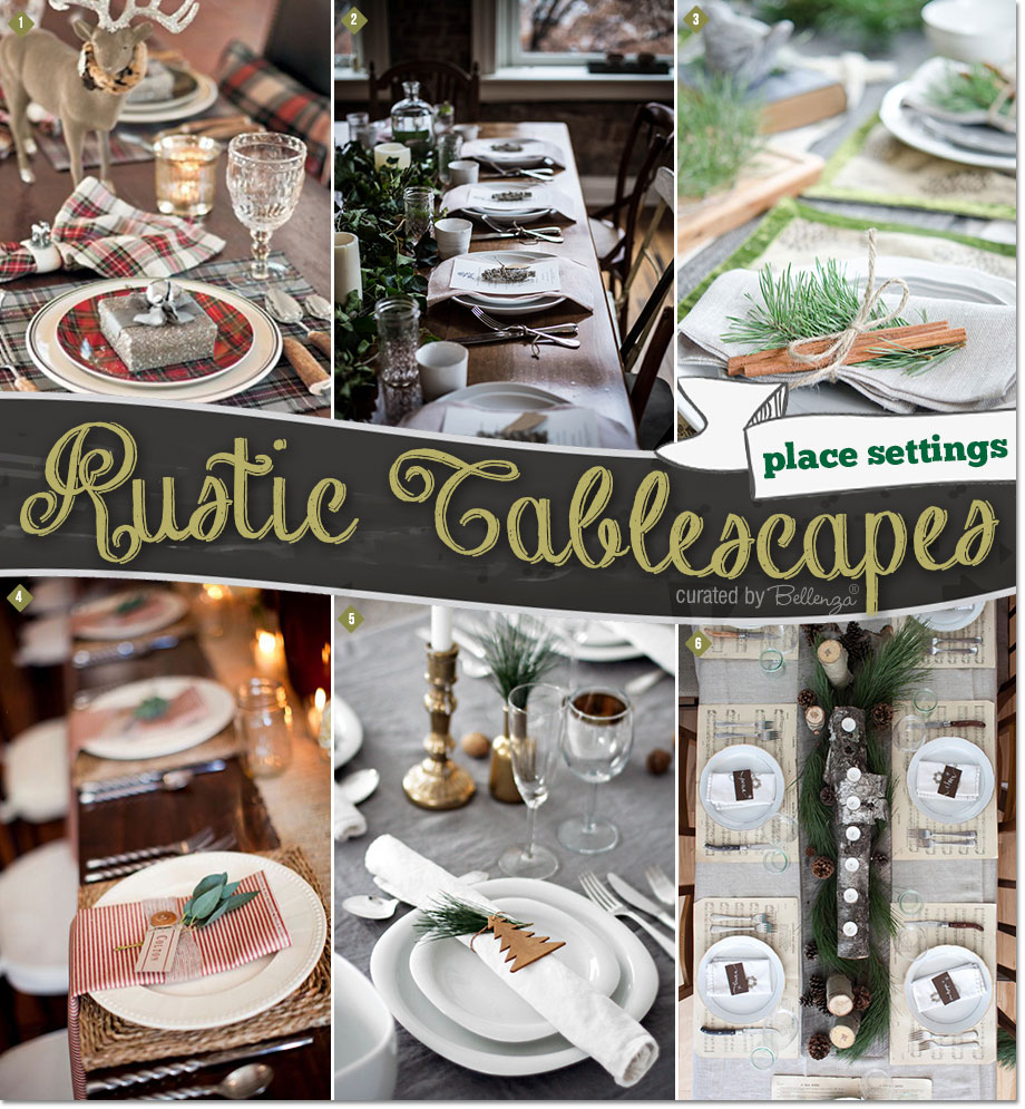 Fabulous Place Setting Ideas with a Rustic Look.