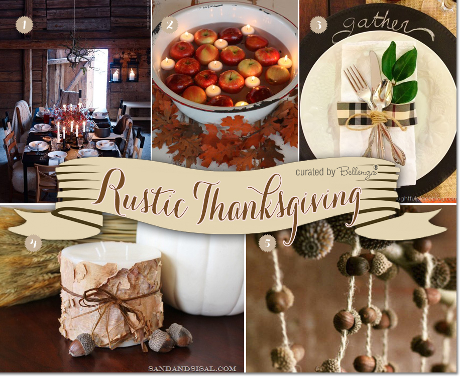 Decorating Ideas for a Rustic Thanksgiving Party with Family