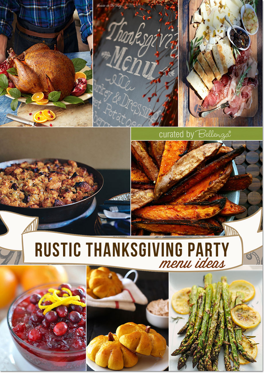 Rustic Thanksgiving Menu with Cajun-fried Turkey, Pumpkin Cornbread, Homemade Cranberry Sauce, and Chorizo Stuffing!
