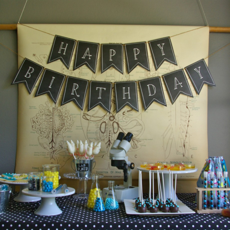 Science themed birthday by Oleander and Palm