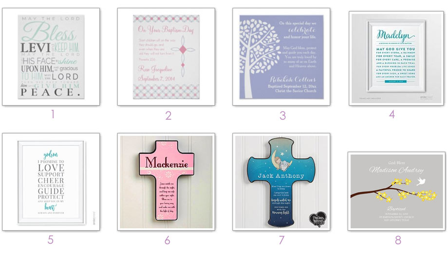 Baptism Gifts: Posters, Art Prints, and Wall Decor