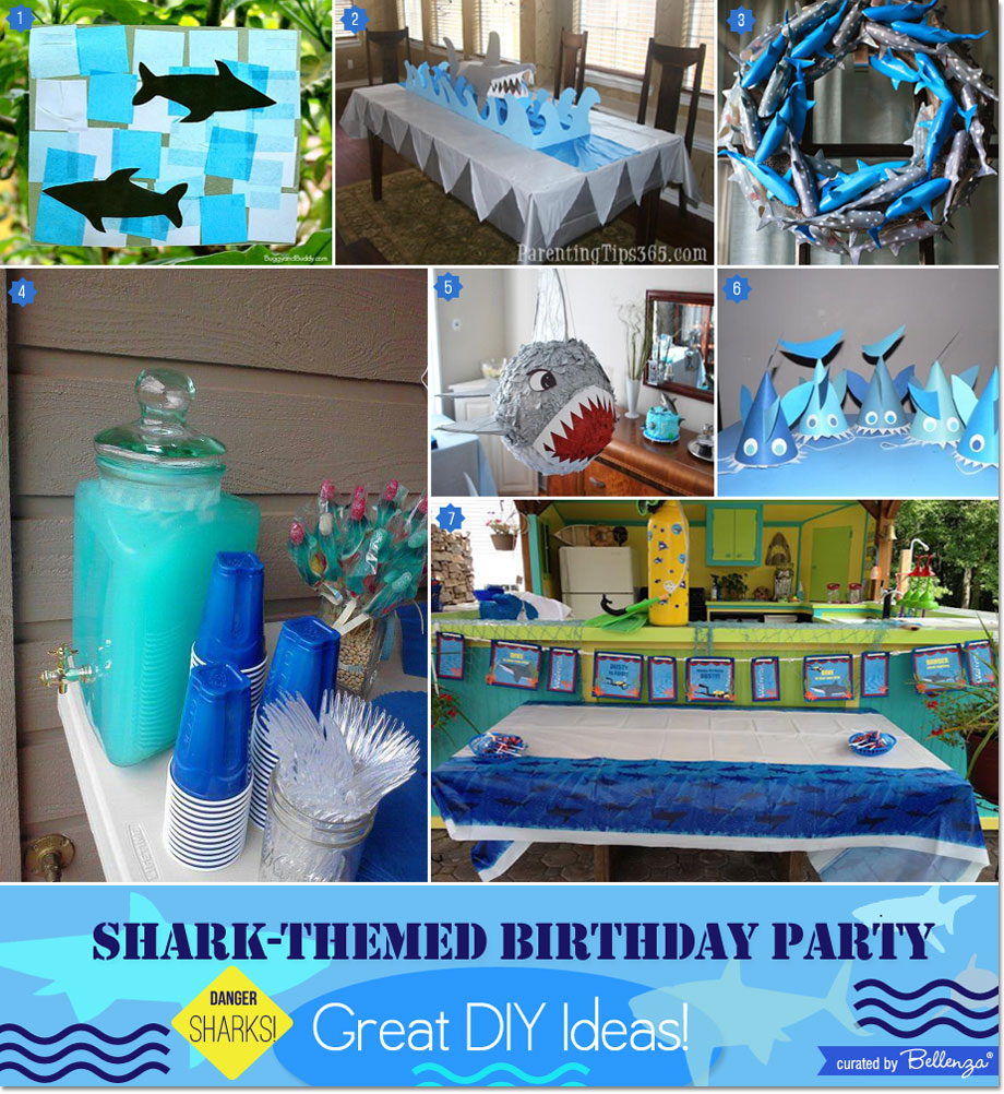 Shark-themed Boy's Birthday Party DIY Ideas from Table Decor to the Drinks and even Dessert Table!