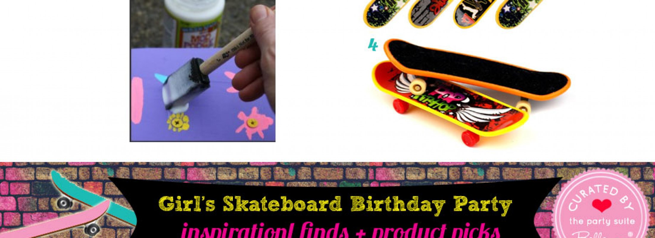 Skateboard Birthday Party Ideas for a Pre-teen Girl!