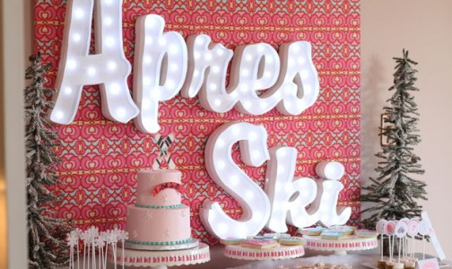 Snow Skiing Themed Birthday Party by We Heart Parties