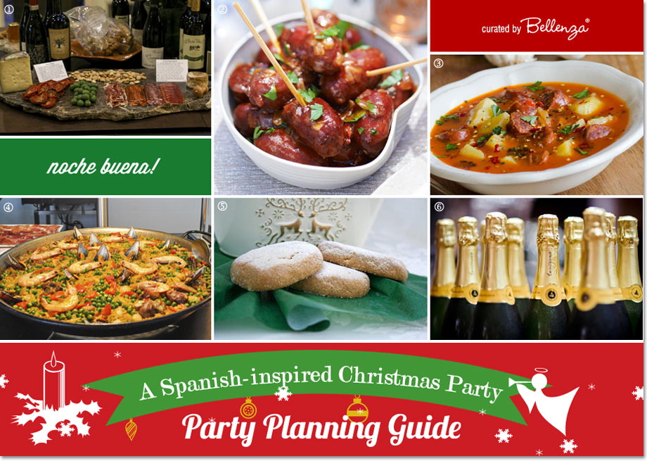 A spanish inspired christmas party guide spanish food from charcuterie to desserts to cava forumfinder Choice Image