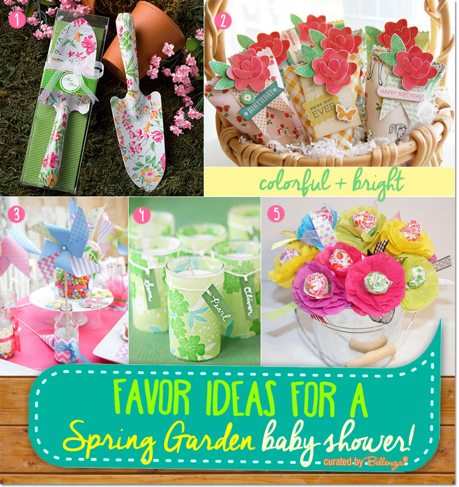 Colorful Spring Garden Favor Ideas For A Baby Shower