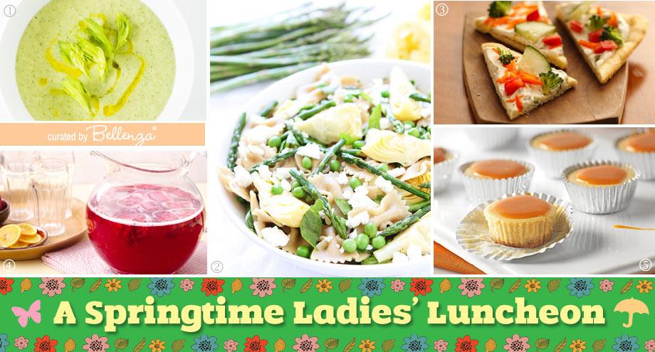 Spring ladies' luncheon food