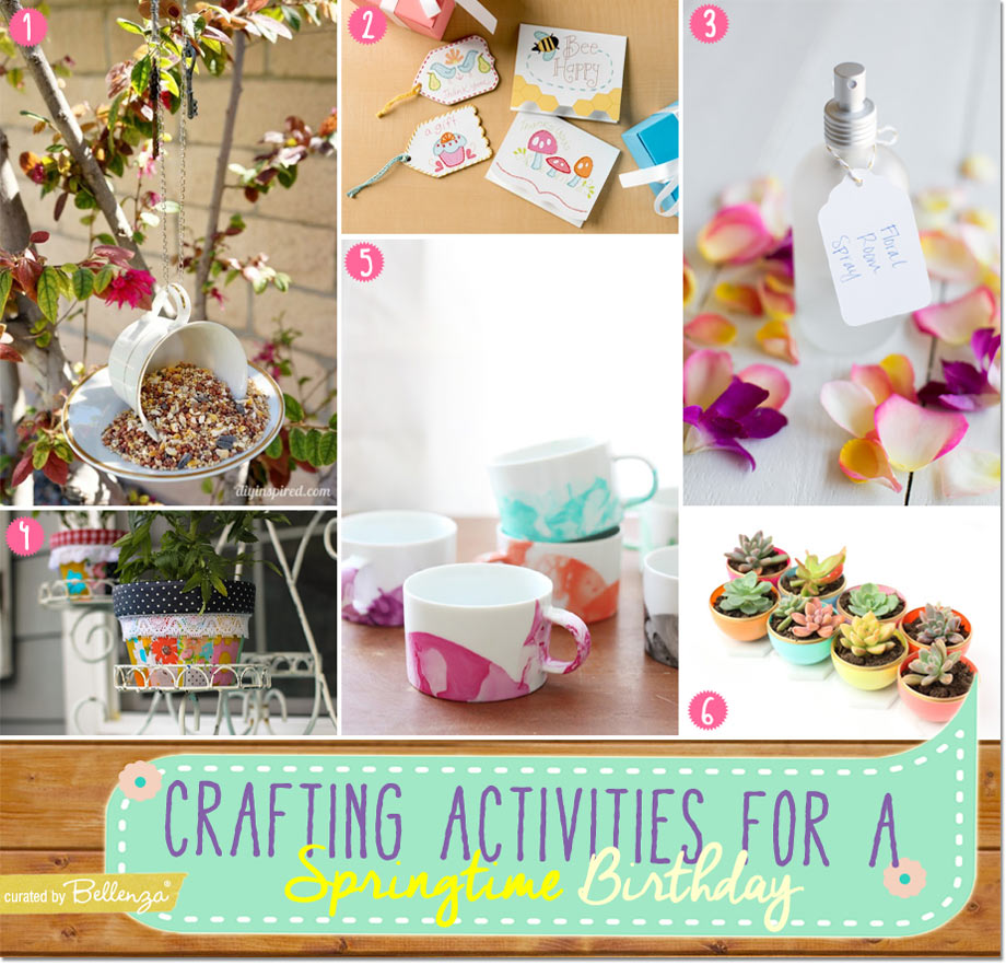 Spring Party Crafting Ideas for a Springtime Birthday from Bird Feeders to Marbled Mugs