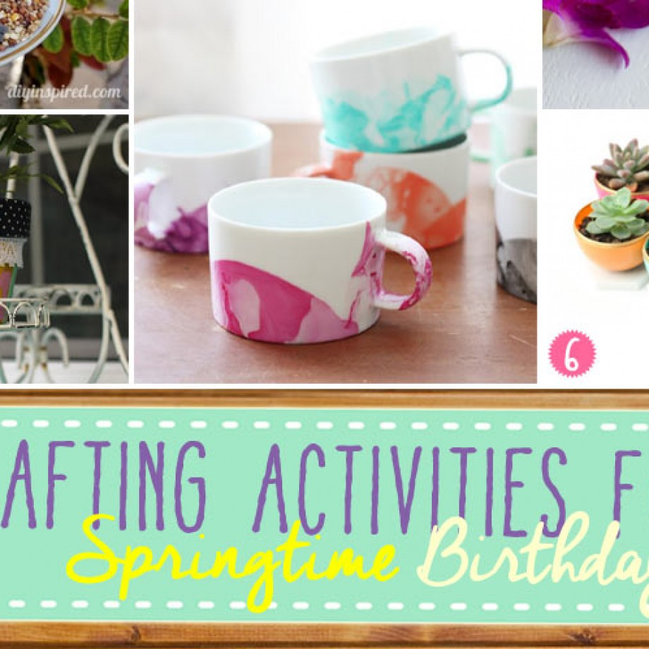 Homemade Spring Crafts and Party Activities