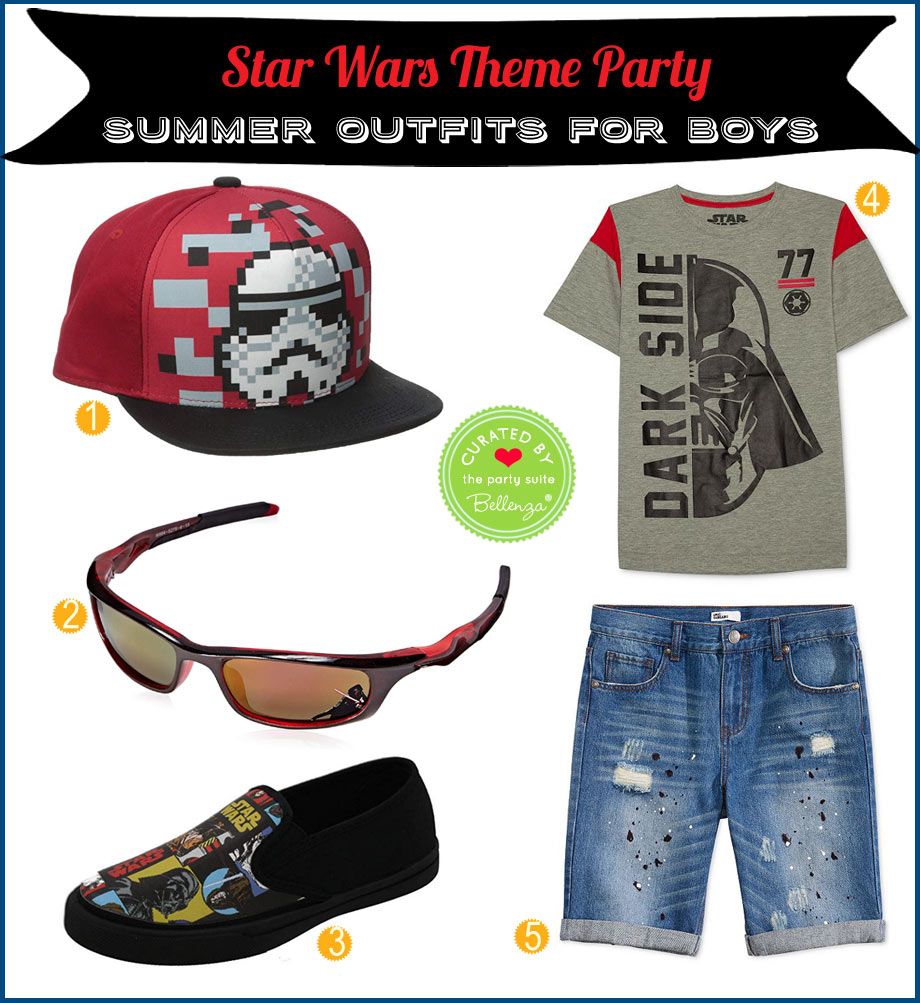 Summer Star Wars boys outfit from t-shirt to shoes.