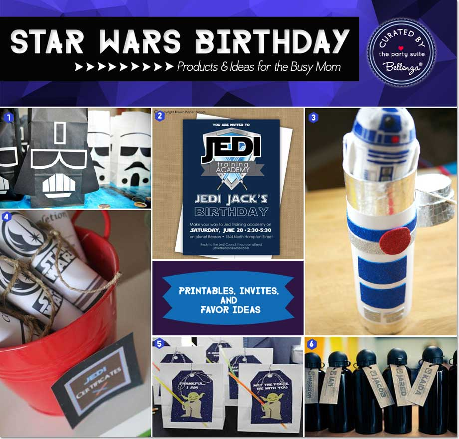 20 Star Wars Party Ideas for the Busy Mom as Featured on the Party Suite at Bellenza. #starwarsparty