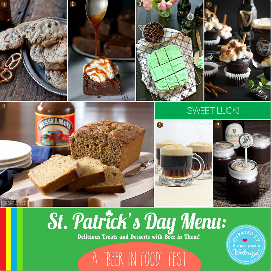 Delicious Desserts with Beer in Them for St. Patrick's Day