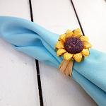 5 - Sunflower napkin rings
