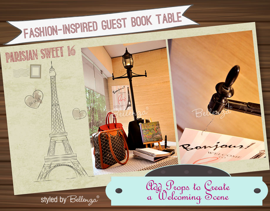 How to Set Up Your own Parisian Guestbook Station |  the Party Suite at Bellenza
