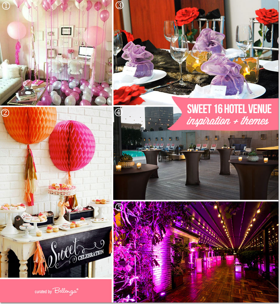 Inspiration for a Room-based Sweet 16 Celebration