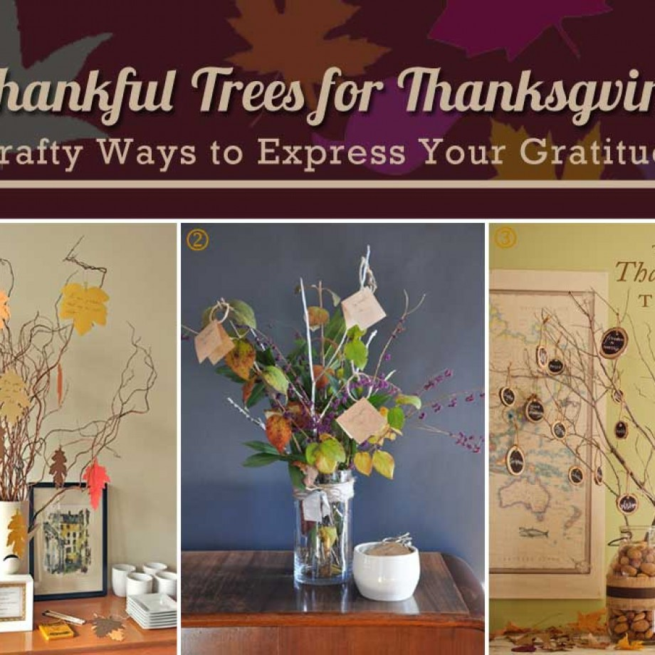 Thankful Trees for Thanksgiving. Crafty Ideas Curated by Bellenza.