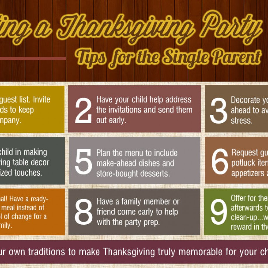10 Tips for Hosting a Thanksgiving Party in a Single-Parent Home from Bellenza