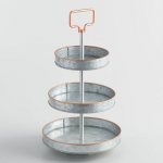 8 - Galvanized Metal and Copper 3-Tier Stand