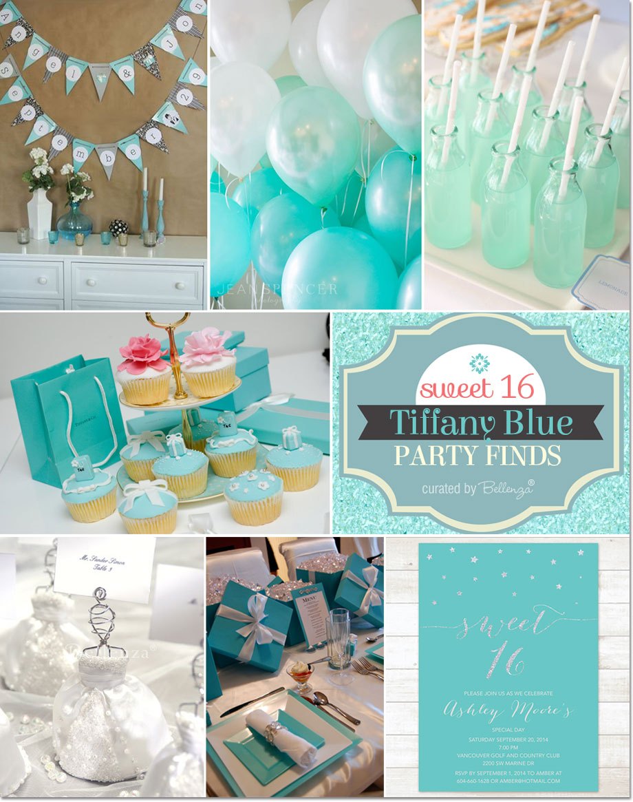 Tiffany Blue Themed Sweet 16 Party Ideas