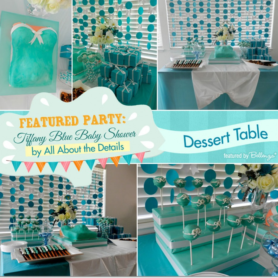 Featured Party Tiffany Blue Baby Shower By All About The Details