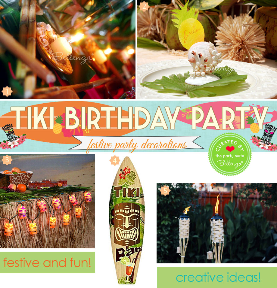 Tiki themed party decorations