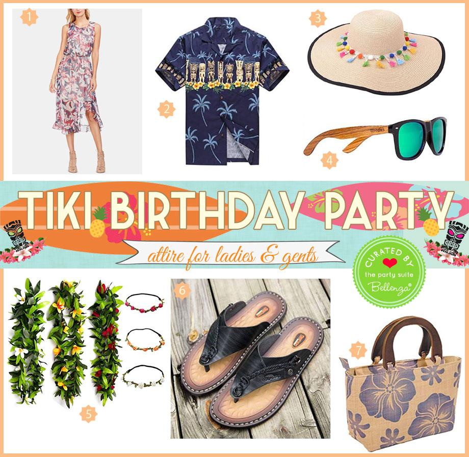 Attire for a Tiki birthday party
