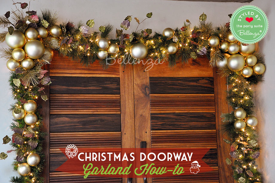 How To Make A Christmas Doorway Garland With Ornaments